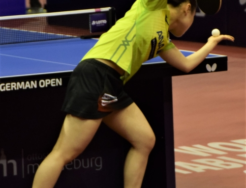 Als ehrenamtlicher Mitarbeiter beim Platinum World Tour Turnier German Open